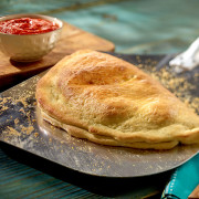 Calzone on Metal Peel