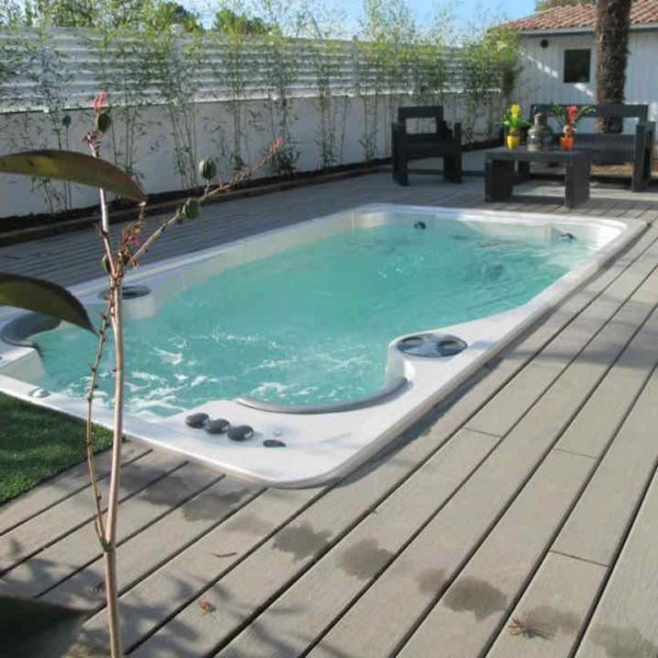 Hydropool Swim Spa 14 Ft Sunk In Ground Patio