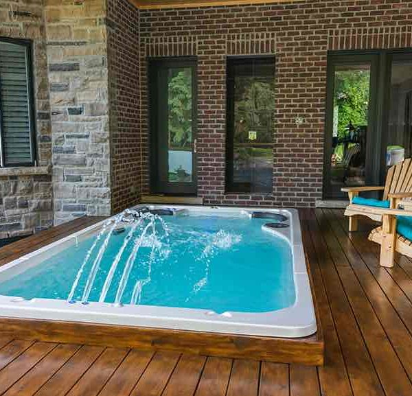 Hydropool Swim Spa 17 Ft Patio Deck Enclosed Outside