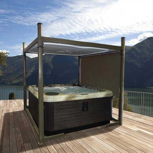 Covana Evolution Hot Tub Cover Mountain Lake View