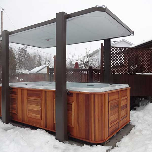 Covana Legend Hot Tub Cover Snow